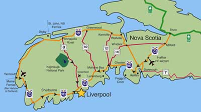 Nova Scotia Map